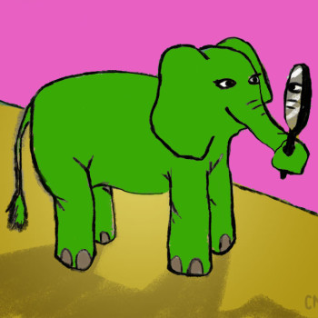 zielony slon